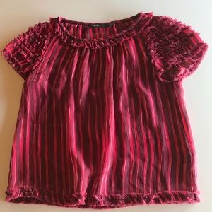 Marc Jacobs striped sheer silk top - S